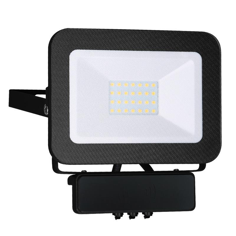 LED HQ Fluter 20W+MICRO IP65 Sensor/4000K/BK/MS - LF2022MS