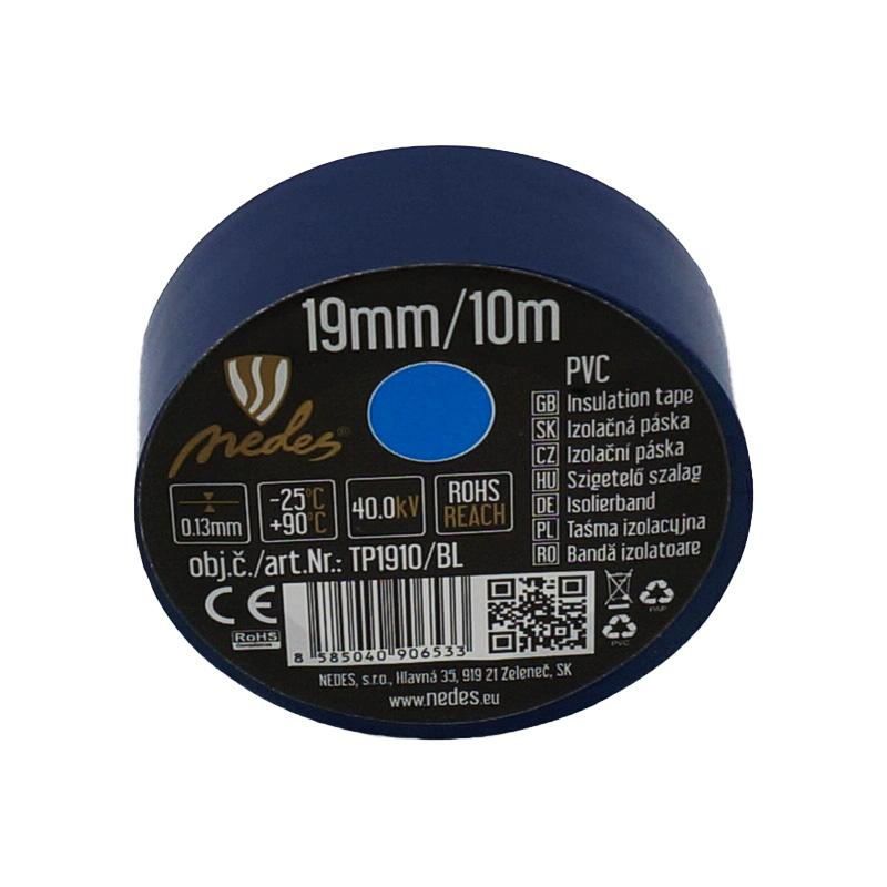 ISOLIERBAND PVC 19mm/10m BLAU -TP1910/BL