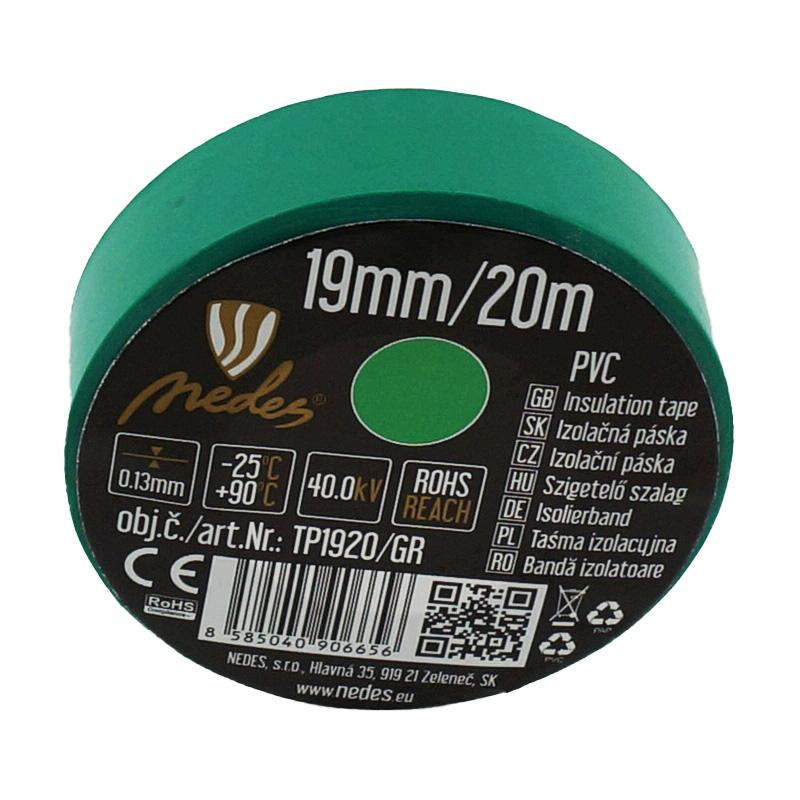 ISOLIERBAND PVC 19mm/20m GRÜN -TP1920/GR