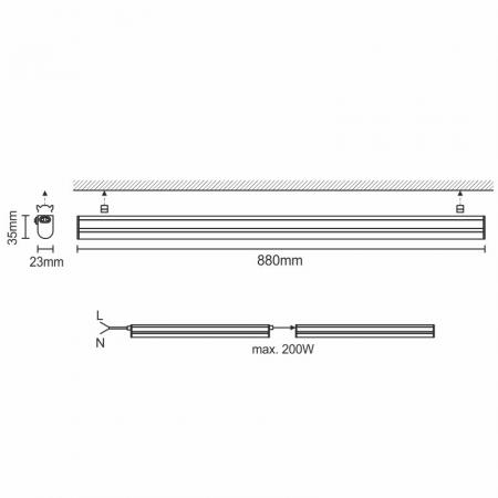 LED Leuchte 12W/IP20 T5/900/2835/4000K - LNL823